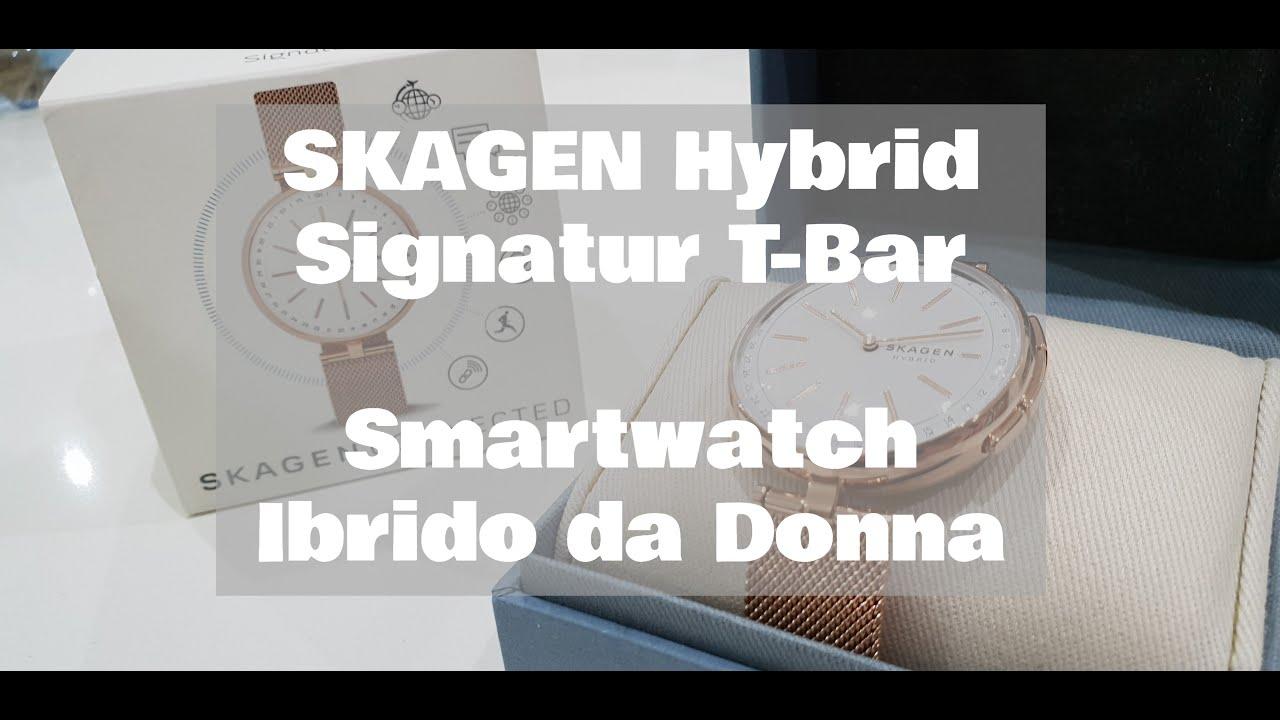 e107b167070ae SKAGEN Signatur Hybrid T-Bar Rose Gold Smartwatch Ibrido da Donna  bellissimo e connesso