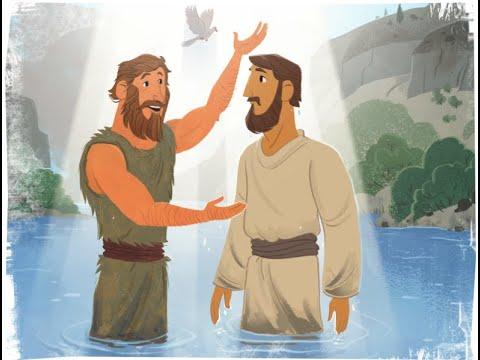 4 5 20 BBC Kids Sunday School - Jesus' Baptism - YouTube