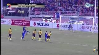 ครึ่งหลัง Thailand 2-0 Malaysia : AFF Suzuki Cup 17 december 2014 Highlights HD , TikiTaka Thailand