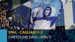 Spal-Cagliari 2-2, cartoline dagli spalti