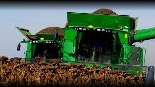 *Kapital Agro* - John Deere S660 & T660 - Sunflower Harvest 2014