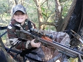7 year old girl shoots at her first deer!!!!