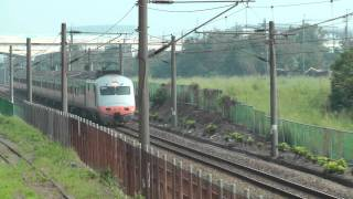 [HD] The Taiwan TRA Tzu-Chiang Train E1000 pass the KRTC Ciaotou Sugar Refinery Station