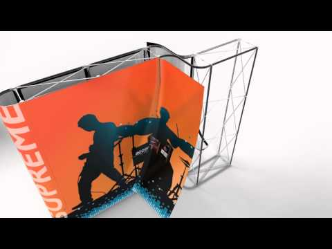 Supreme, the Portable Modular System for Trade Show Exhibits & Booths | Accenta Display