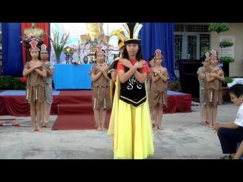 Trường TH Tân Hóa - văn nghệ ngày giỗ tổ Hùng Vương- múa