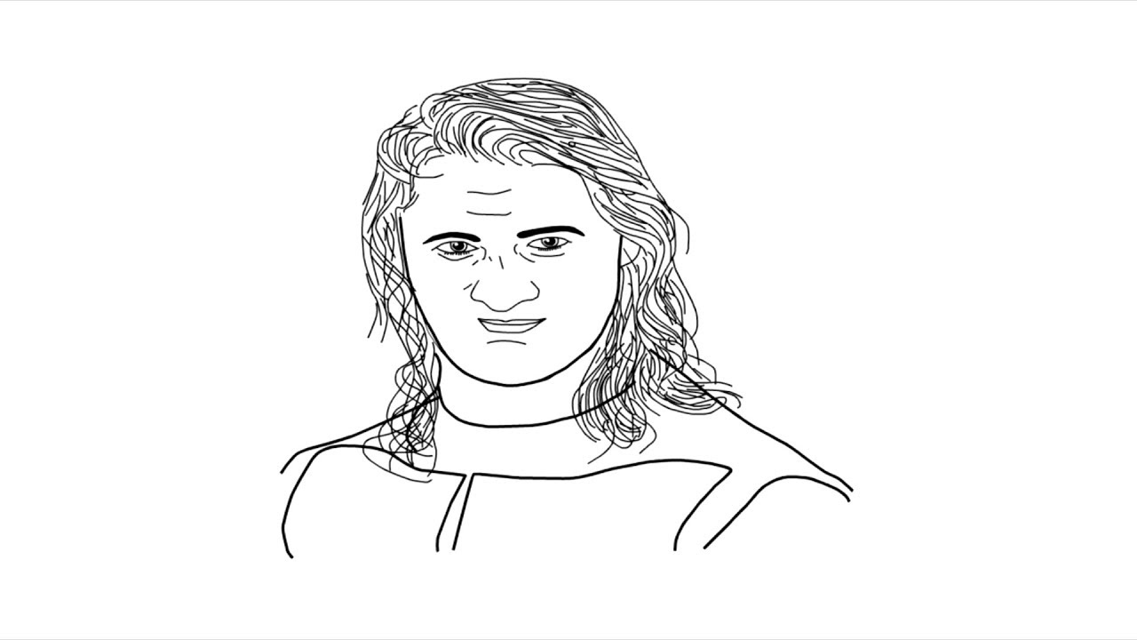 Wrestler Seth Rollins Sketch Drawing How To Draw Seth Rollins Face Youtube