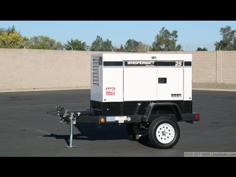 MQ Power WhisperWatt 25 Diesel Generator - YouTube