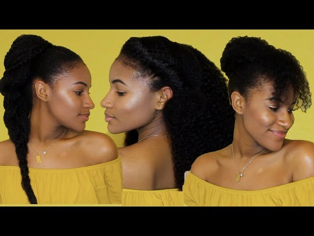 3 NEW QUICK & EASY NATUAL HAIR HAIRSTYLES (ON OLD HAIR) !