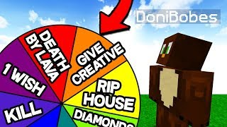 SPIN THE WHEEL TO CHOOSE THE PLAYERS TROLL! (Minecraft Trolling)