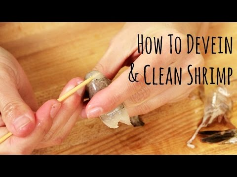 How to Devein and Clean Shrimp (How To) 海老の下ごしらえの仕方