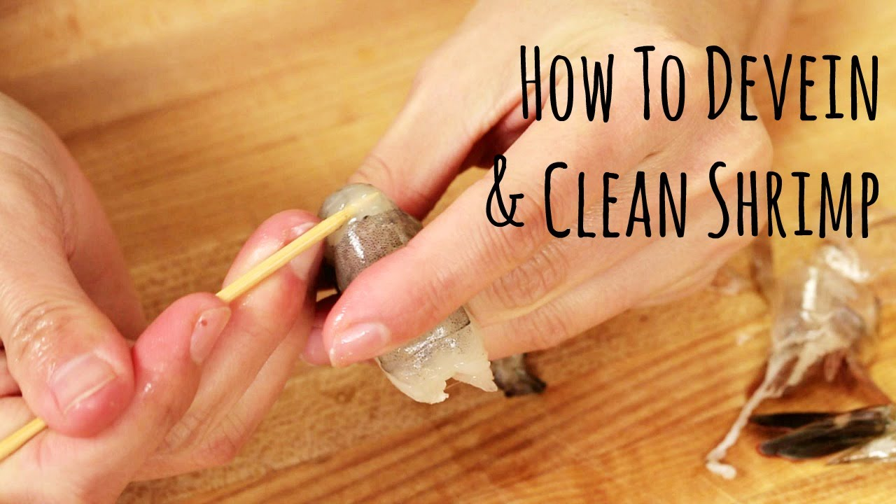 How to Devein and Clean Shrimp (How To) 海老の下ごしらえの仕方 - YouTube