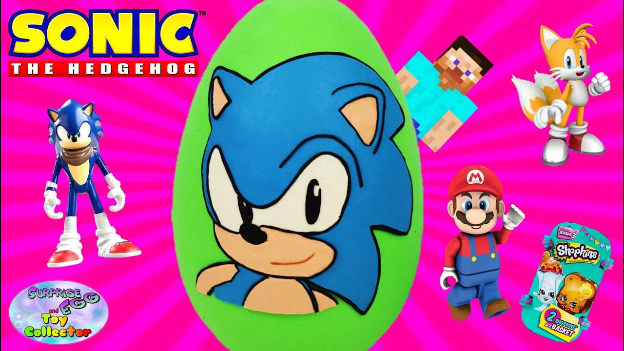 Sonic Boom Play-Doh Surprise Eggs - Frozen Minions Finding Nemo ...