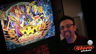 Stern AEROSMITH PRO pinball unboxing / set-up / discussion