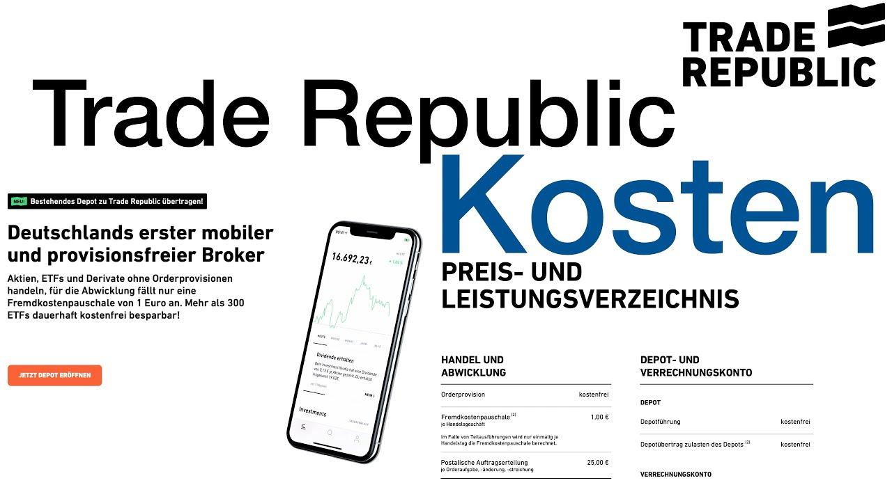 Trade Republic Preis Leistungsverzeichnis
