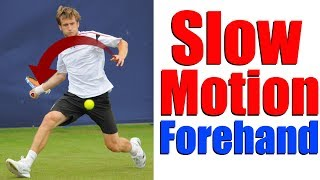 Tennis Forehand In Slow Motion - Alex of Top Tennis Training