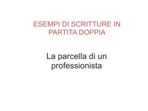 Esempi Scritture PD - 02- Parcella di un professionista