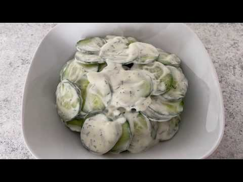 Komkommer salade