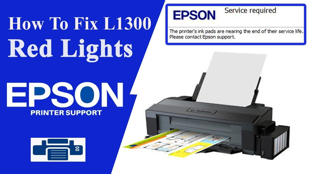 Epson L1300 Resetter L1300 Service Required Youtube