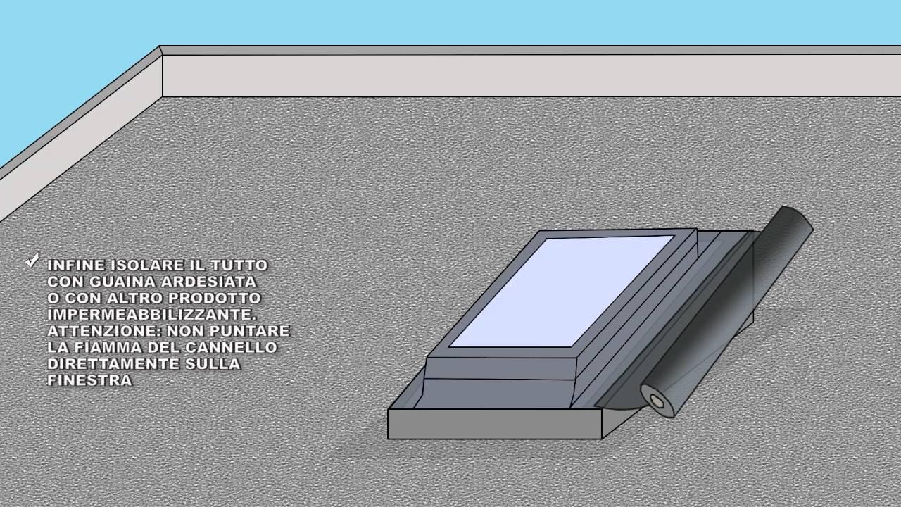 Installazione finestra per tetto piano come montare for Misure lucernari per tetti
