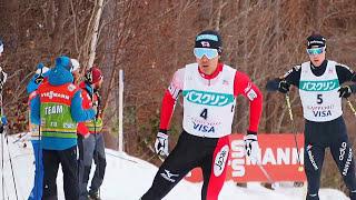 11Feb2017 FIS Nordic Combind World Cup Sapporo 1st.lap Akito WATABE(JPN) etc. ワールドカップ複合距離札幌