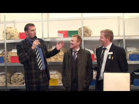 Adam Henson and Doddie Weir at the National Sheep Association marquee - Royal Highland Show