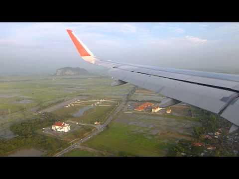 AirAsia A320 9M-AQY landing Alor Setar AOR