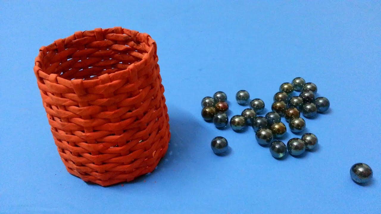 Basket Making Using Newspaper : How to make a basket using newspaper doovi