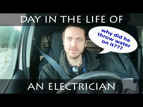 DO WATER AND ELECTRICS MIX | TRIPPING CIRCUIT - DAY IN THE LIFE OF AN ELECTRICIAN