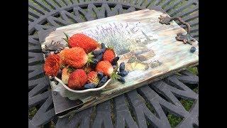 Декорирование подноса. (Decoration of the tray). Diy