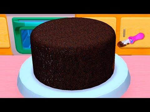Детская КУХНЯ #39 Новая Готовка Челлендж в мультяшной игре для девочек. Делаю тортик и вкусный сок