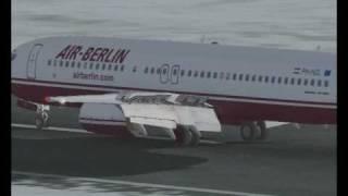 Air Berlin 737-800 Landing into Bremen Airport, Germany - FS2004