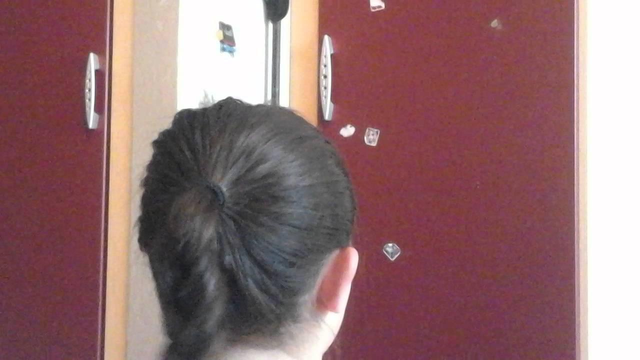 Leichte Frisur Mit 3 Haargummis Und Spange Youtube
