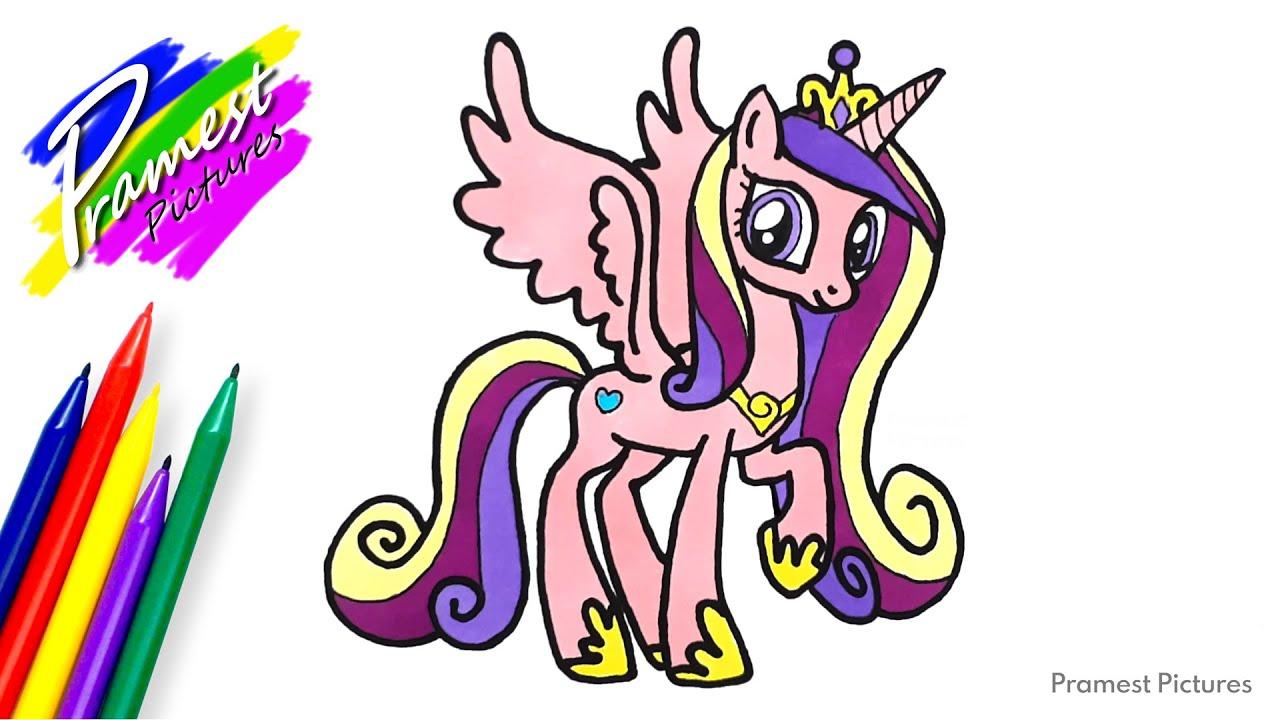 Putri Cadance 2 Cara Menggambar Dan Mewarnai Gambar Kuda Poni Untuk Anak Youtube