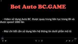 BC Game| Bot Auto BC GAME | 10…