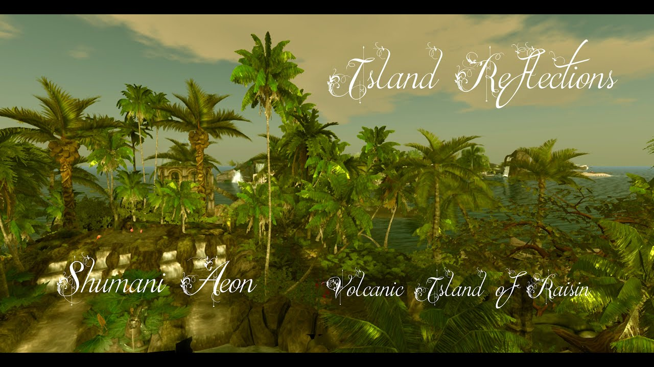 Second Life A walk around the Volcanic Island of Raisin (Slideshow) - Second Life Travel and Holiday