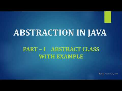 Abstraction in JAVA Part 1 - Abstract Class with Example
