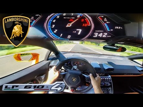 POV 342 km/h LAMBORGHINI HURACAN AKRAPOVIC INSANE! AUTOBAHN ACCELERATION TOP SPEED DRIVE & SOUND letöltés