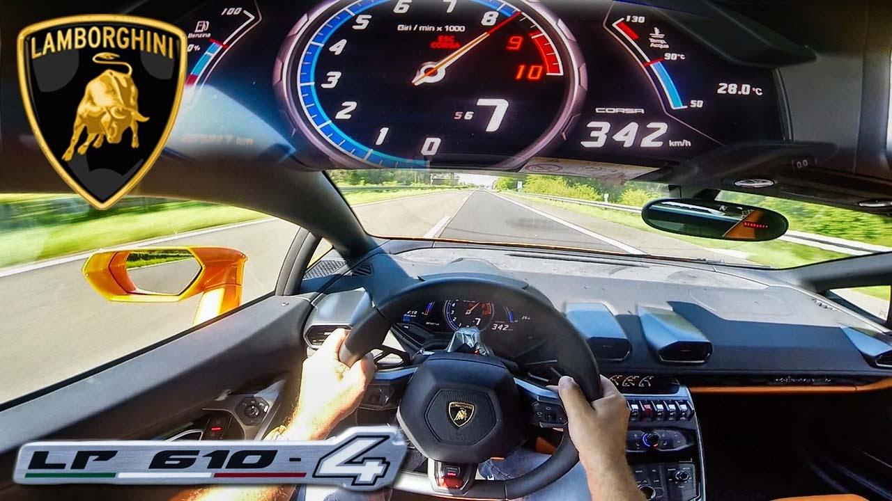 POV 342 km/h LAMBORGHINI HURACAN AKRAPOVIC INSANE! AUTOBAHN ACCELERATION TOP SPEED DRIVE & SOUND #1