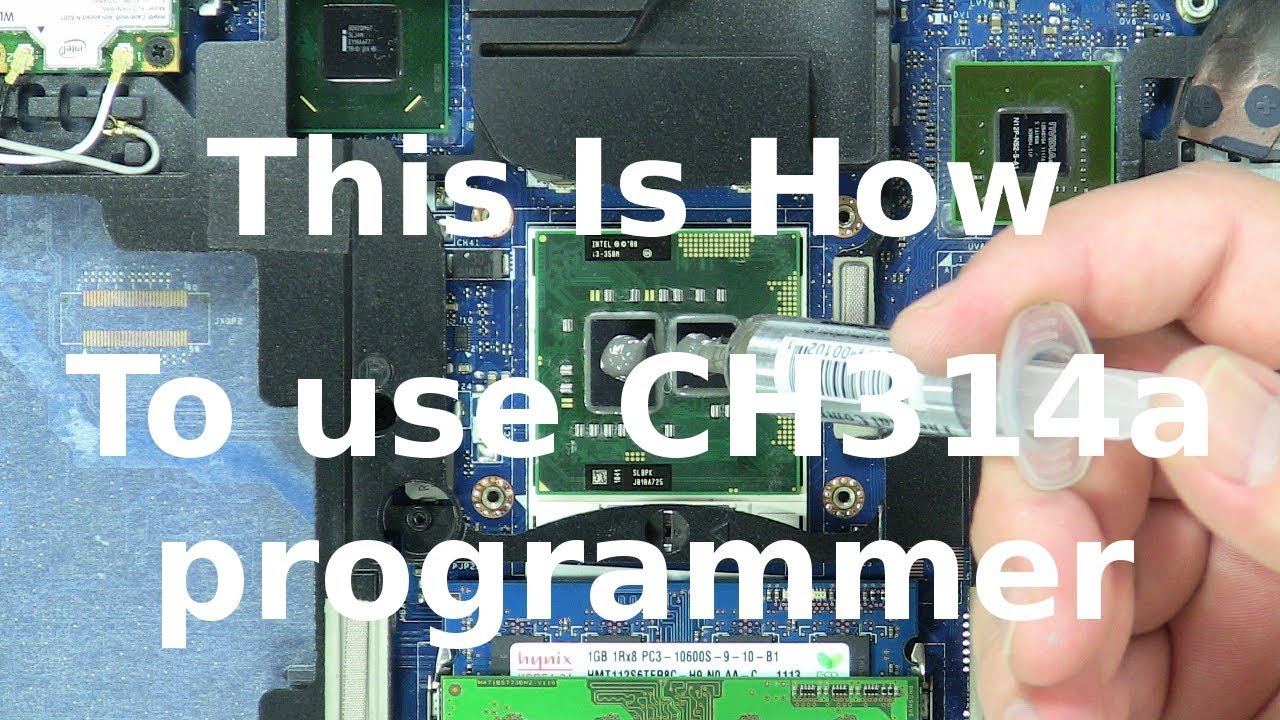 How to use CH341A bios programmer by This Is How