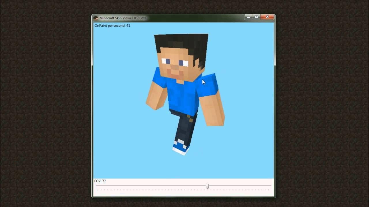 Minecraft Skin Viewer 12.12 Beta Preview - FOV test