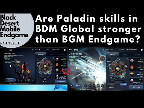 Black Desert Mobile Endgame Are Paladin Skills In BDM Global Stronger Than BDM Endgame?