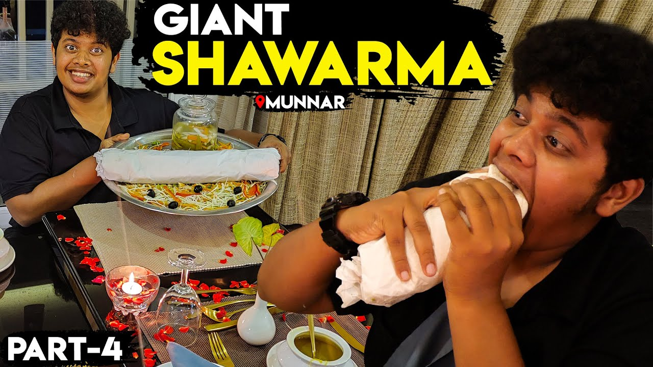 Giant Shawarma in Five Star Hotel - Chandy's Windy Wood Resort - Munnar