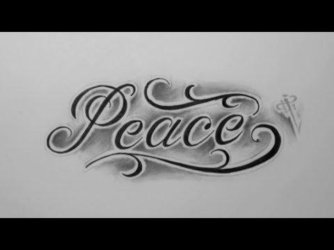 Diseño Letras Peace Peace Lettering Design Nosfe Ink Tattoo Youtube