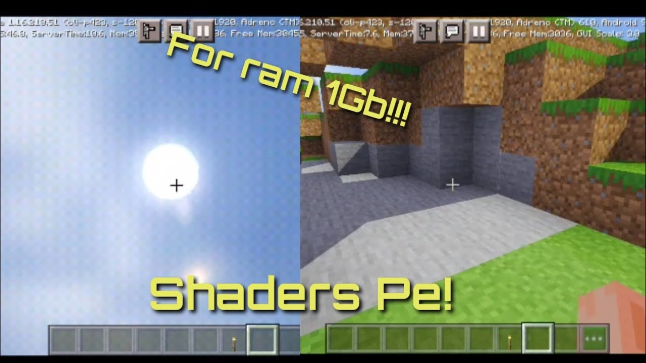 Best Low Shaders In minecraft Pe!!For ram 11-11Gb[Minecraft