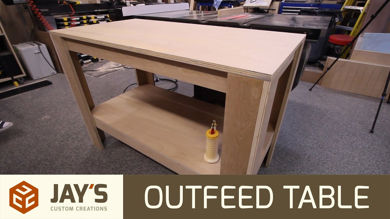 Shop Table From 1 Sheet Of Plywood 259 Youtube