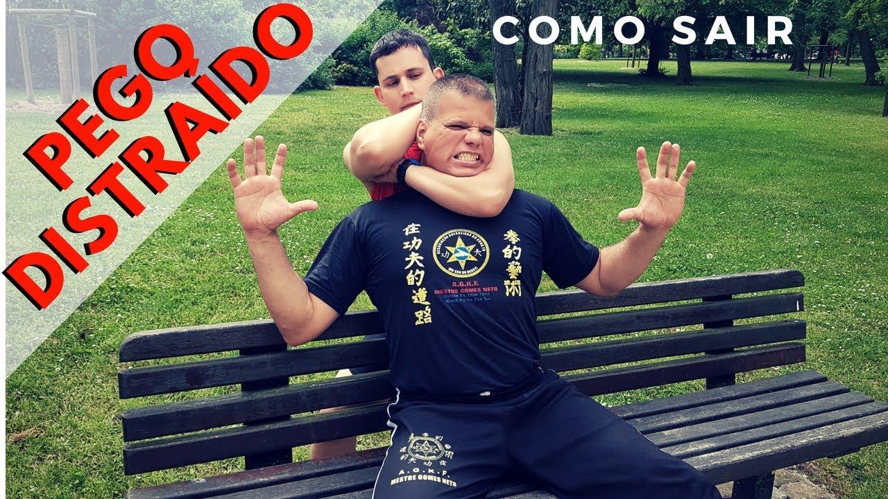 COMO SAIR DE UM MATA LEÃO SENTADO NO BANCO  Artes Marciais e Defesa Pessoal #KungFu