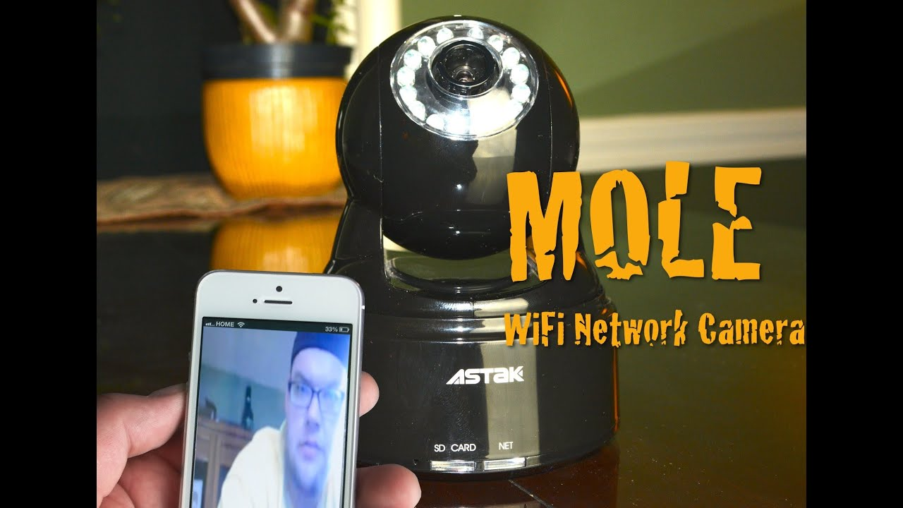 MOLE WiFi Network Camera Review/Tutorial/Test - YouTube