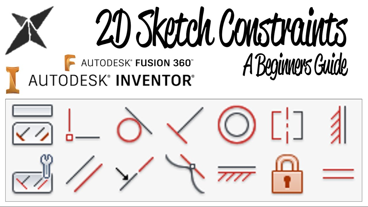 2D Sketch Constraints, A Beginners Guide   Inventor & Fusion 360