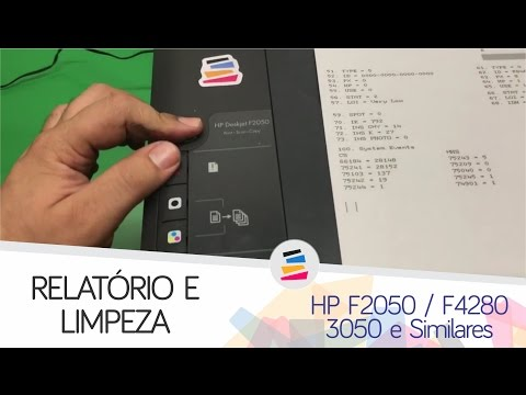 Tutorial - Relatório e Limpeza pelo painel HP F2050 F4280 3050 1516 2546 e Similares - SULINK