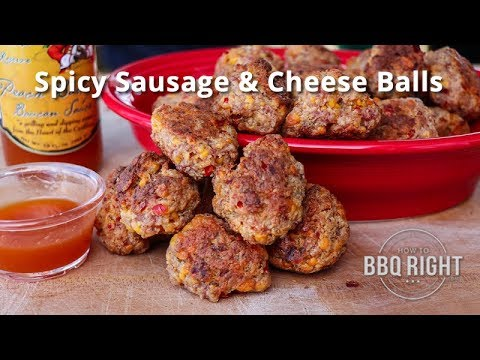 Spicy Sausage & Cheese Balls on the Traeger Grill